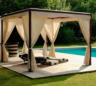 gazebo bordo piscina
